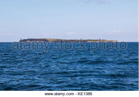 small island between grenå and samsø, kattegat, denmark / kleine insel zwischen grenå und samsø, kattegat, dänemark - Stock Photo