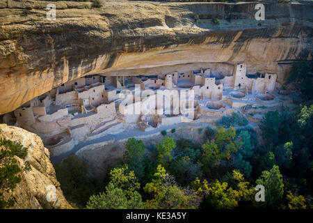Mesa Verde National Park is a National Park and World Heritage Site located in Montezuma County, Colorado. - Stock Photo
