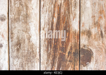 Closeup detail of wooden planks on old shack, horizontal shot - Stock Photo