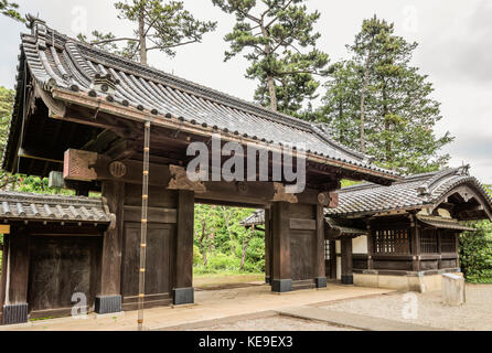Gate of Date Family Residence at Edo Tokyo Open Air Architectural Museum, Tokyo, Japan | Eingangstor zur Residence - Stock Photo
