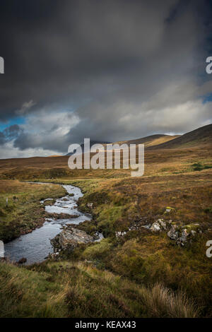 Ben Klibreck mountain near Altnaharra in Sutherland, Scottish Highlands, UK - Stock Photo