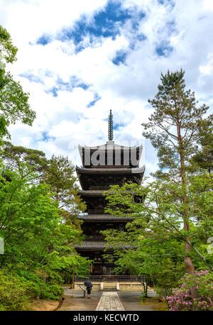 Ninna-ji Pagoda in Kyoto Japan Asia - Stock Photo