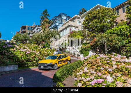 Lombard Street, San Francisco, California, USA - Stock Photo