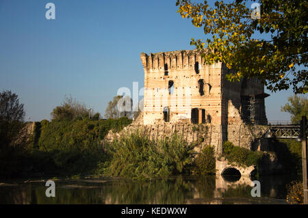 View of Borghetto sul Mincio Italy - Stock Photo