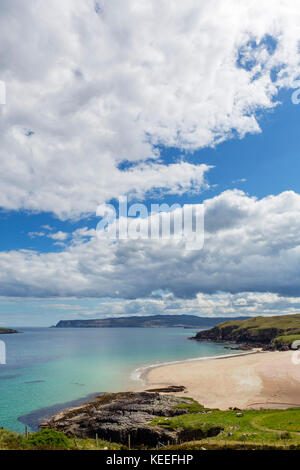 Beach at Sangobeg, near Durness, Sutherland, Scottish Highlands, Scotland, UK. The village is on the North Coast - Stock Photo