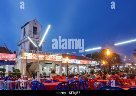 MELAKA, MALAYSIA AUGUST 20, 2017 : The Portuguese Settlement in Malacca is a Portuguese community and a famous food - Stock Photo