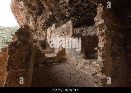 Tonto native american indian ruins cliff dwelling - Stock Photo