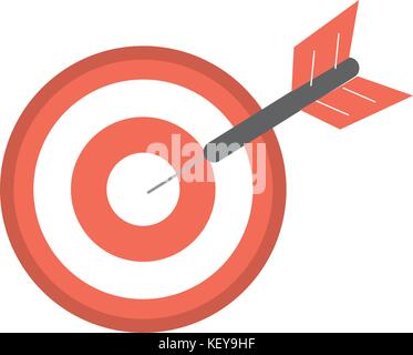 dart target board to strategy competition - Stock Photo