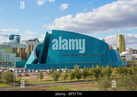 Kazakhstan, Astana City, New Administrative City, State Auditorium building, Manfredi architect - Stock Photo