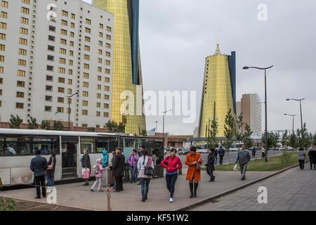 Kazakhstan, Astana City, New Administrative City, Nurzhol Avenue - Stock Photo