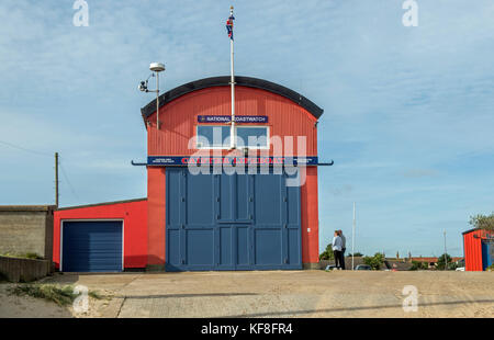 Caister Lifeboat Station on the Norfolk Coast england - Stock Photo