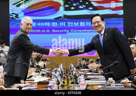 Seoul, South Korea. 29th Oct, 2017. October 28, 2017-Defense Ministry, Seoul, South Korea-In this photo released - Stock Photo