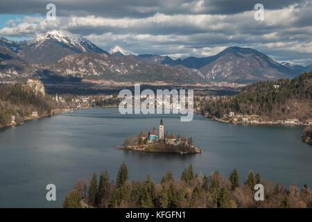 Lake Bled in Slovenia - Stock Photo