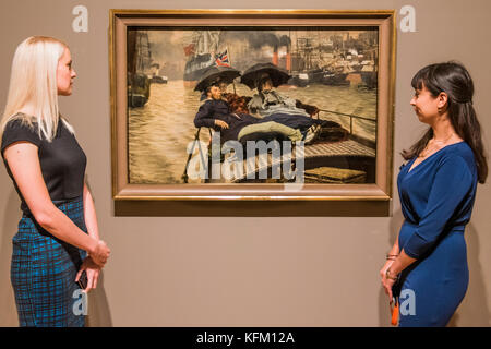 London, UK. 30th Oct, 2017. The EY Exhibition: Impressionists in London, French Artists in Exile (1870-1904) at - Stock Photo