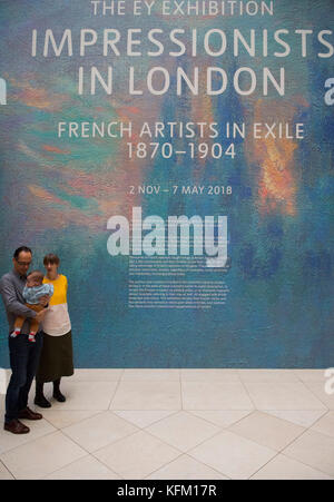 Tate Britain, London, UK. 30 October 2017. The EY Exhibition: Impressionists in London, French Artists in Exile, - Stock Photo