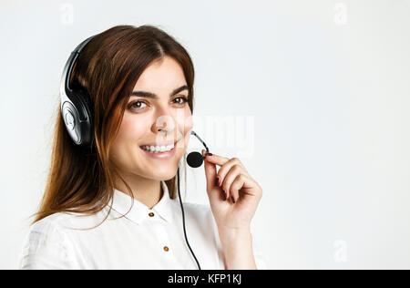 Woman Callcenter Operator - Stock Photo