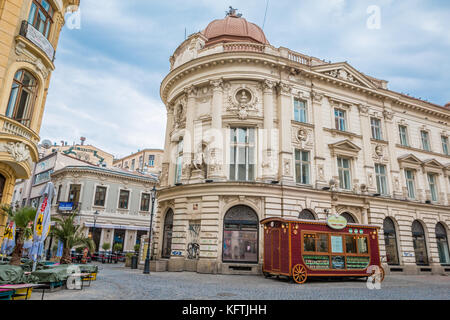 Old city of Bucharest in Romania - Stock Photo