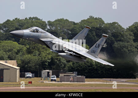 F15 Fighter Take off - Stock Photo
