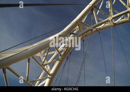 Garbatella bridge in Rome - Stock Photo