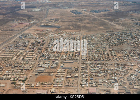 Aerial of Djibouti on the Horn of Africa, Africa - Stock Photo
