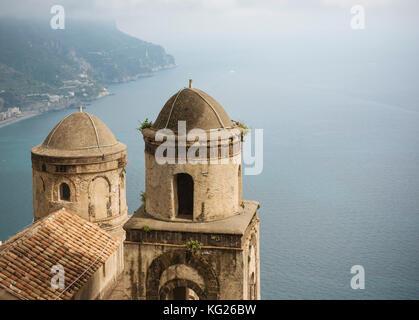 View from Villa Rufolo, Ravello, Amalfi Coast, UNESCO World Heritage Site, Campania, Italy, Europe - Stock Photo