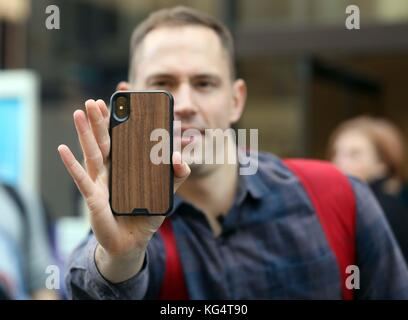 Iphone X goes on sale in London - Stock Photo