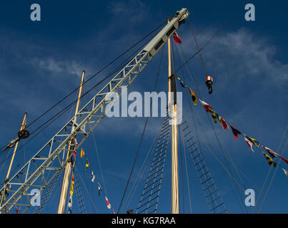 Masts and Rigging of SS Great Britain in Bristol - Stock Photo