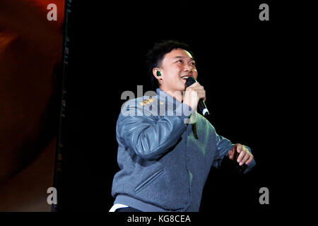 London, UK, 4th November, 2017. Eason Chan concert at the Copper Box Arena as part of the C'mon In Promotional Tour - Stock Photo
