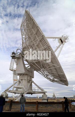 At the Karl G. Jansky Very Large Array (VLA) near Socorro, New Mexico -- 27 radio telescopes deployed in a Y-shaped - Stock Photo