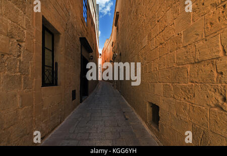 Street in Mdina (Malta) - Stock Photo