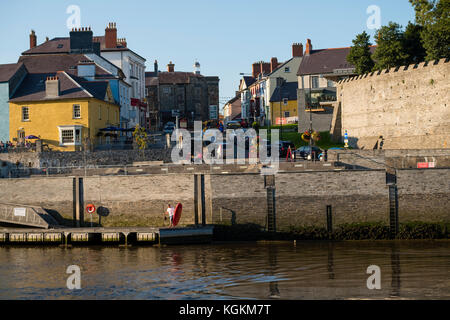 Cardigan town and the Teifi river, Ceredigion, Wales, UK - Stock Photo