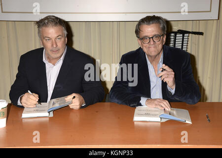 Alec Baldwin and Kurt Andersen at a booksigning of their book 'You Can't Spell America Without Me - The Really Tremendous - Stock Photo
