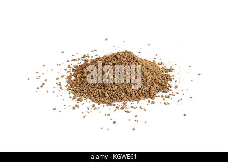 Pile of Indian Masala chai granules. Isolated on white background selective focus - Stock Photo