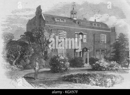 Gad's Hill Place, near Rochester, the home of Charles Dickens. Kent 1870. The Illustrated London News - Stock Photo