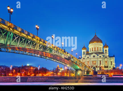 Cathedral of Christ the Saviour in Moscow - Stock Photo