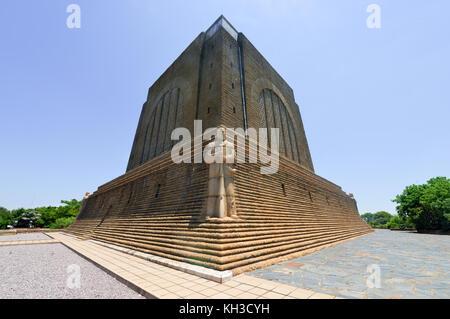 Monument to Afrikaner Leader at Voortrekker Monument. The Voortrekker Monument is located just south of Pretoria - Stock Photo