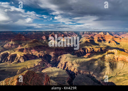 View across Grand Canyon South Rim Arizona - Stock Photo