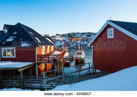 sørvågen, moskenes, moskenesøya, lofoten, nordland, norway, march 2017 - Stock Photo