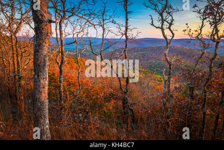 The Talimena Scenic Drive is a National Scenic Byway in southeastern Oklahoma and extreme western Arkansas. - Stock Photo