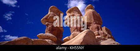 USA. Utah. Devil's Garden. Grand Staircase-Escalante National Monument. Hoodoos Rock formations. - Stock Photo
