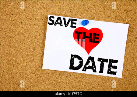 Conceptual hand writing text caption inspiration showing Save The Date concept meaning Love Special Day and Greeting - Stock Photo