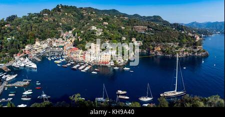 Europe. Italy, Liguria, Italian Riviera, Portofino. - Stock Photo