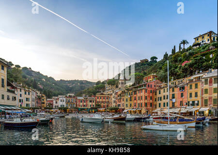 Italy. Liguria. Gulf of Tigullio, Italian Riviera. Portofino - Stock Photo