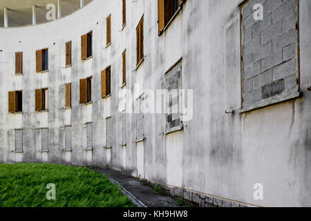 Building facade full of windows - Stock Photo