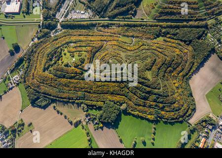 Herringen, Halde Kissinger Höhe, Bergehalde, Hamm, Ruhr Area, North Rhine-Westphalia, Germany - Stock Photo