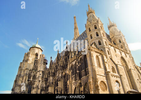 St.Stephan Cathedral Viennese Landmark in downtown, Vienna Austria 15.April 2015 - Stock Photo