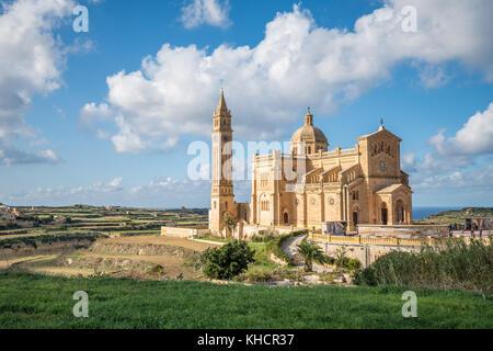Basilica of the National Shrine of the Blessed Virgin of Ta Pinu, Gozo, Malta - Stock Photo