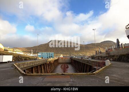 Shipyard in the Faroe Islands - Stock Photo