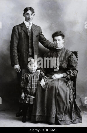 Family snaps over the ages covering 1860's through 1970's.  A collective look at the progression of the family tree. - Stock Photo