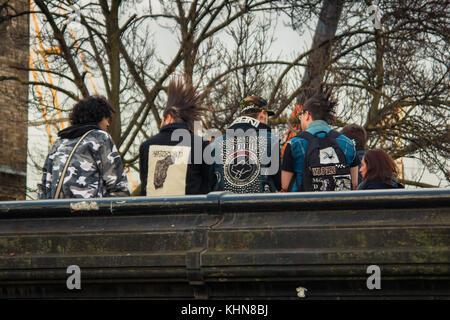 Punks in Camden Town, London - Stock Photo